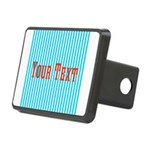 Personalizable Red on Teal Stripes Hitch Cover