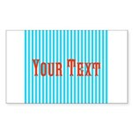 Personalizable Red on Teal Stripes Sticker