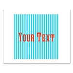 Personalizable Red on Teal Stripes Posters