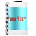 Personalizable Red on Teal Stripes Journal