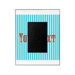Personalizable Red on Teal Stripes Picture Frame