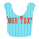 Personalizable Red on Teal Stripes Bib