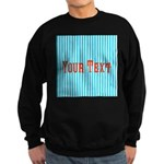 Personalizable Red on Teal Stripes Sweatshirt