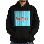Personalizable Red on Teal Stripes Hoodie