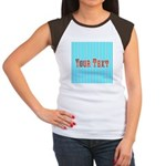 Personalizable Red on Teal Stripes T-Shirt