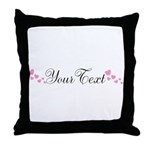 Personalizable Pink Hearts Throw Pillow