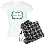 Personalizable Teal Black White 2 Pajamas