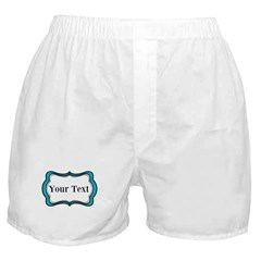 Personalizable Teal Black White 2 Boxer Shorts