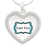 Personalizable Teal Black White 2 Necklaces