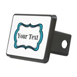 Personalizable Teal Black White 2 Hitch Cover