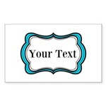 Personalizable Teal Black White 2 Sticker
