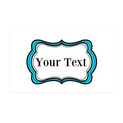 Personalizable Teal Black White 2 Wall Decal