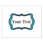 Personalizable Teal Black White 2 Posters