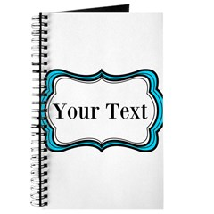 Personalizable Teal Black White 2 Journal