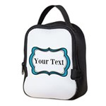 Personalizable Teal Black White 2 Neoprene Lunch B