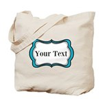 Personalizable Teal Black White 2 Tote Bag