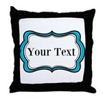 Personalizable Teal Black White 2 Throw Pillow