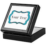 Personalizable Teal Black White 2 Keepsake Box