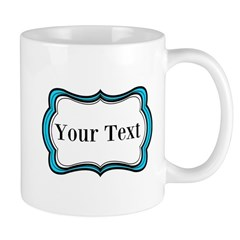 Personalizable Teal Black White 2 Mugs