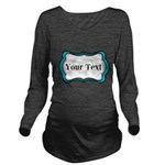Personalizable Teal Black White 2 Long Sleeve Mate