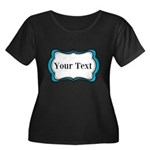 Personalizable Teal Black White 2 Plus Size T-Shir