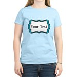 Personalizable Teal Black White 2 T-Shirt