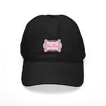Personalizable Light Pink Black White Baseball Hat