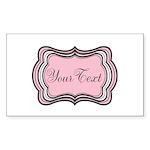 Personalizable Light Pink Black White Sticker