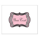 Personalizable Light Pink Black White Posters