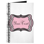 Personalizable Light Pink Black White Journal