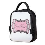 Personalizable Light Pink Black White Neoprene Lun
