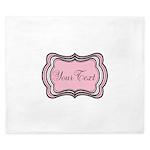 Personalizable Light Pink Black White King Duvet