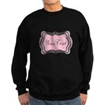 Personalizable Light Pink Black White Sweatshirt