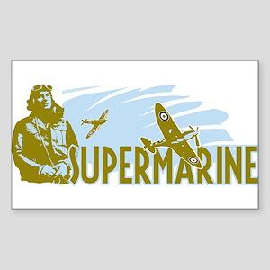 Supermarine Spitfire and Pilot on Sticker