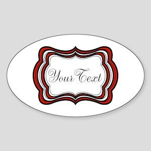 Personalizable Red Black White Sticker