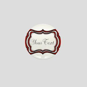 Personalizable Red Black White Mini Button