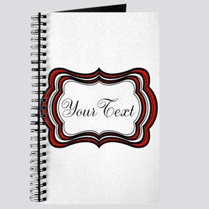 Personalizable Red Black White Journal