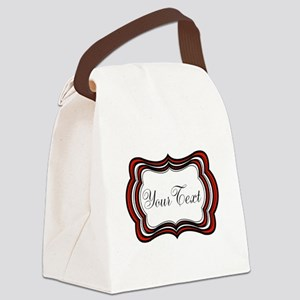 Personalizable Red Black White Canvas Lunch Bag