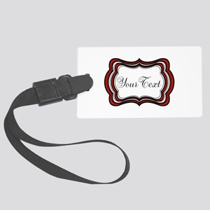Personalizable Red Black White Luggage Tag