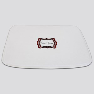 Personalizable Red Black White Bathmat