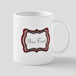 Personalizable Red Black White Mugs