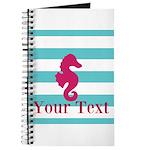 Personalizable Teal Eggplant Sea Horse Journal