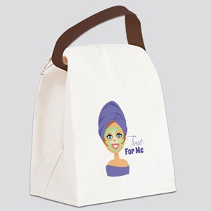 Time For Me Canvas Lunch Bag