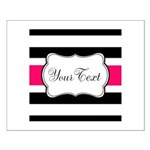 Personalizable Hot Pink Black Striped Posters