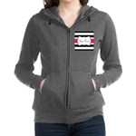 Personalizable Hot Pink Black Striped Women's Zip