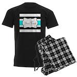 Personalizable Teal Black White Stripes Pajamas