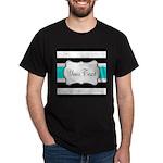Personalizable Teal Black White Stripes T-Shirt