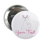 Personalizable White Cat 2.25
