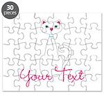 Personalizable White Cat Puzzle