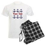 Personalizable Red and Blue Anchors Pajamas